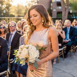 Lulu's rose gold sequin dress size XS